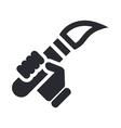 torch icon vector image