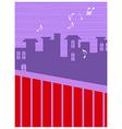 Neighborhood Music Background vector image