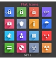 Flat Application Icons Set 5 vector image vector image