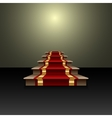 abstract of red carpet on the staircase vector image
