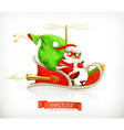 Santa Claus on sledge vector image