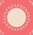 Round frame with corner and place for text vector image