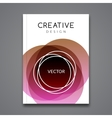 Poster Flyer Template Abstract colorful vector image