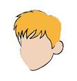 cartoon head man profile avatar vector image