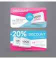 Discount voucher template with paper bag vector image