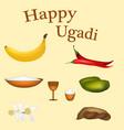 Guess the indian new year goody padva vector image