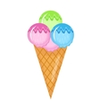 Ice Cream cone icon flat cartoon style Isolated vector image