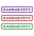 kansas city watermark stamp vector image