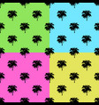 palm trees set on colors background - vector image