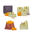 Paper money and bag Concept of big vector image