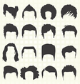 Retro Mens Hair Style Silhouettes vector image
