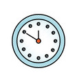 round clock time minute day timer vector image