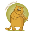 Smiling cat playing the violin vector image