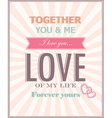 The card for Valentines Day vector image