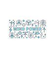 wind power creative banner vector image