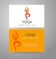 yoga logo card vector image