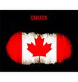 Grunge Canada flag vector image