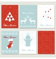 Set Christmas gift tags vector image