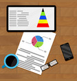 planning infochart on tablet vector image