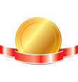medal with ribbon EPS 10 vector image vector image