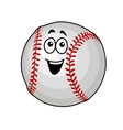 Fun happy baseball ball vector image