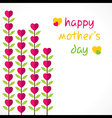 creative happy mothers day greeting design vector image