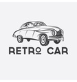 retro car design template vector image