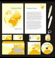 company stationery templates vector image vector image