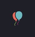 balloons computer symbol vector image