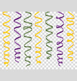 colorful curly ribbons set on transparent vector image