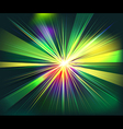 Colorful rays explosion futuristic technology vector image