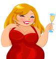 Curvy girl vector image