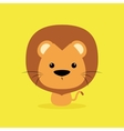 Cute Cartoon Wild lion vector image