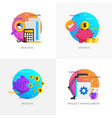 flat designed concepts - analysis savings vector image