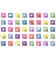 Flat travel icons set vector image