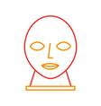 head sculpture museum icon vector image