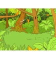 Jungle forest cartoon vector image