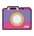 line color digital camera technology equipment vector image