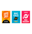 Sale flyers set with discount offer Season best vector image
