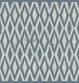 seamless vintage rhombus pattern grunge textured vector image