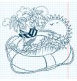 summer doodles vector image