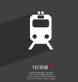 train icon symbol Flat modern web design with long vector image