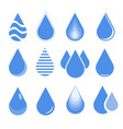 water drop set blue drop buttons vector image