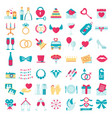 wedding love set icons vector image