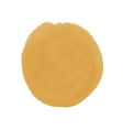 Realistic yellow spot of watercolor paint vector image