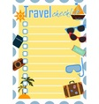 Travel checklist or planner vector image