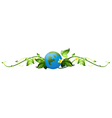 A vine plant border with the earth vector image