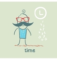 people and time vector image vector image