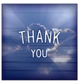 Thank you - creative lettering design vector image vector image