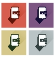Set of flat icons with long shadow phone in hand vector image